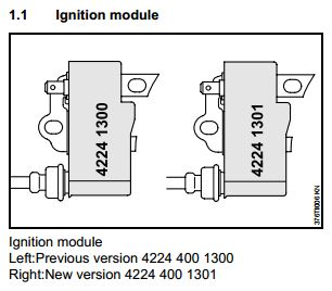 Stihl TS700 & TS800 Ignition Coil Identification - DHS Equipment on