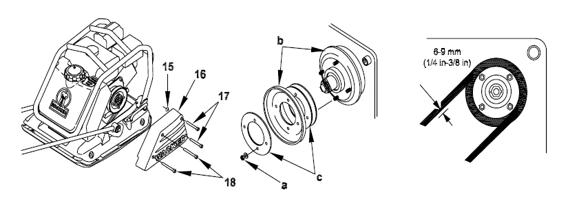 Wacker WP1540 and WP1550 Belt Replacement Diagram